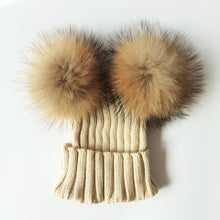 Load image into Gallery viewer, Large Baby Pom Pom Hat
