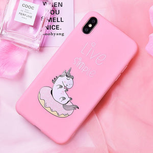 Unicorn & Doughnut IPhone Case