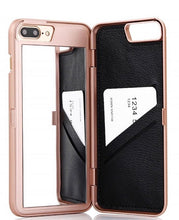 Load image into Gallery viewer, Luxury Glam iPhone Case with Hidden Mirror & Wallet