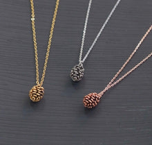 Load image into Gallery viewer, Pinecone Aesthetic Necklace