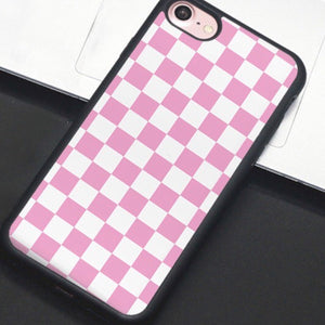 new style fb1c8 054ac Pink & White Checkered IPhone Case