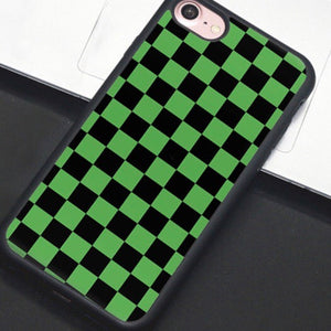 Green & Black Checkered IPhone Case