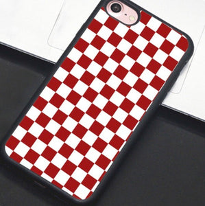 Red & White Checkered IPhone Case