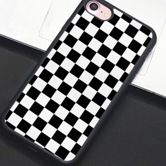 Black & White Checkered IPhone Case