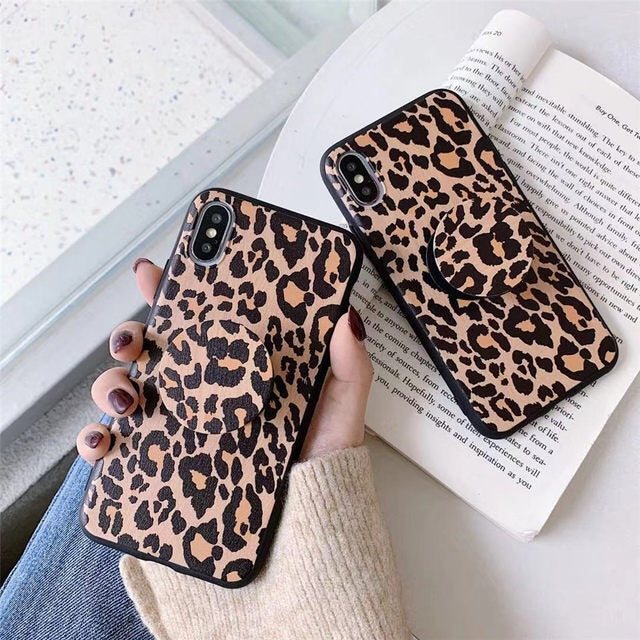 Cheetah Print IPhone Case & Stand (Popsocket)