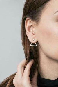 Minimalist V Earrings