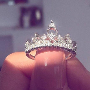 Fairytale Midnight Princess Tiara Ring