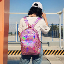Load image into Gallery viewer, Crybaby Holographic Backpack