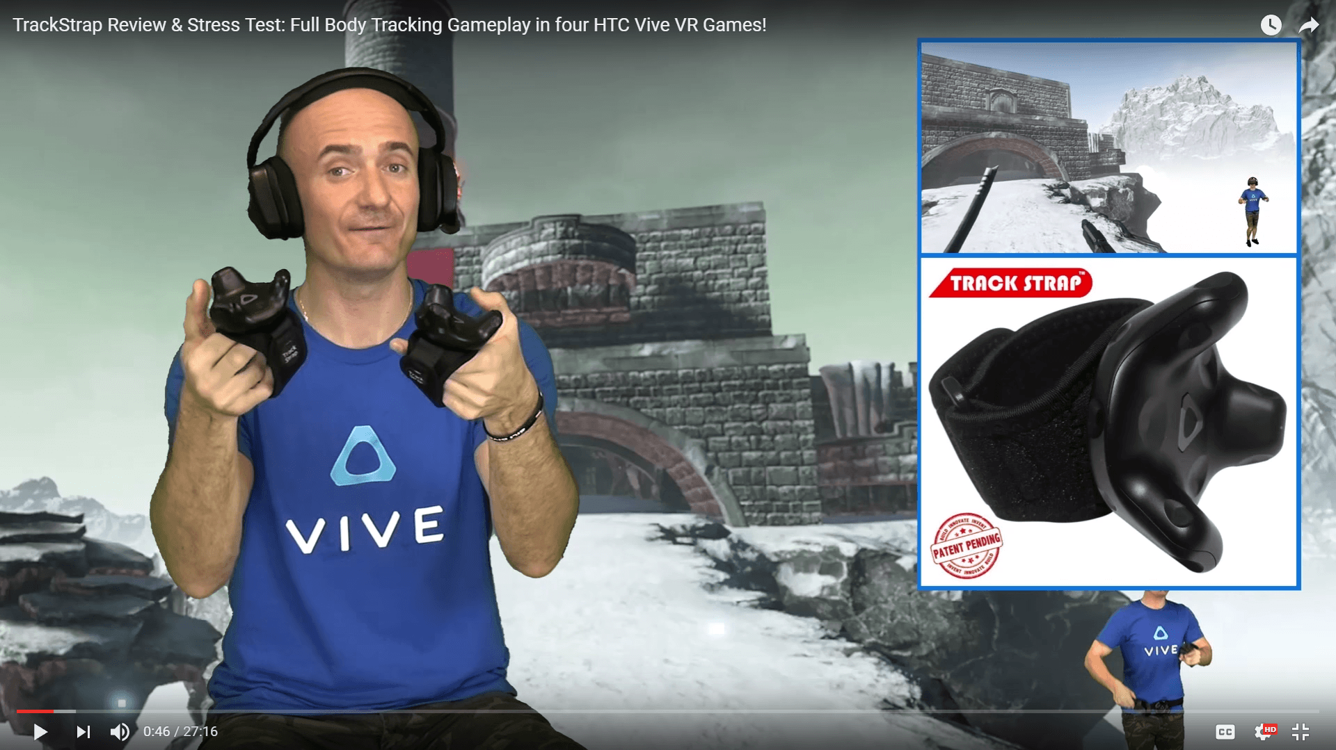 TrackStrap and VIVE tracker with various games