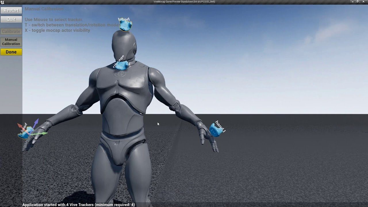 UE4 Motion Capture Plugin with VIVE Trackers