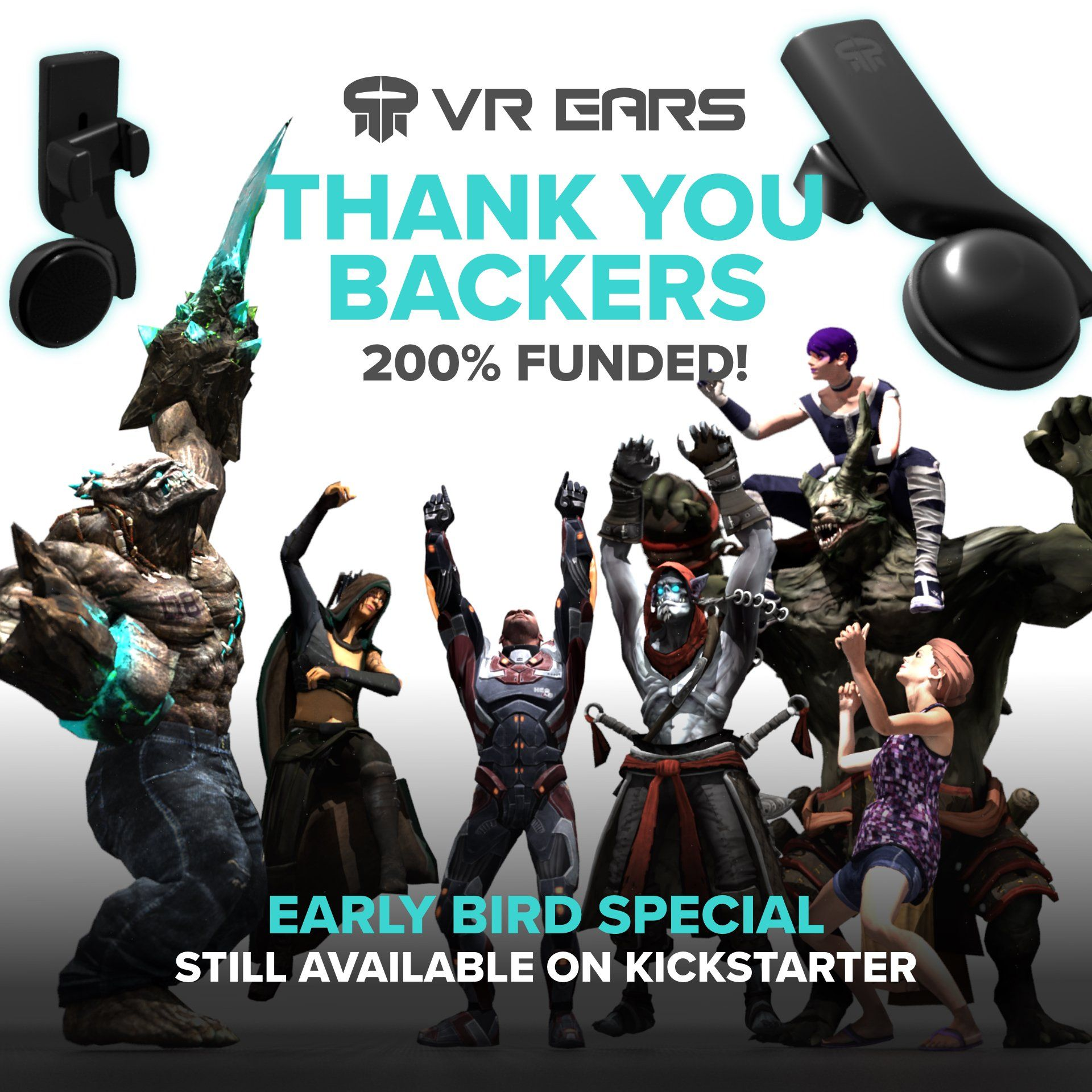 VR Ears are Fully Funded on Kickstarter within 4 Hours!