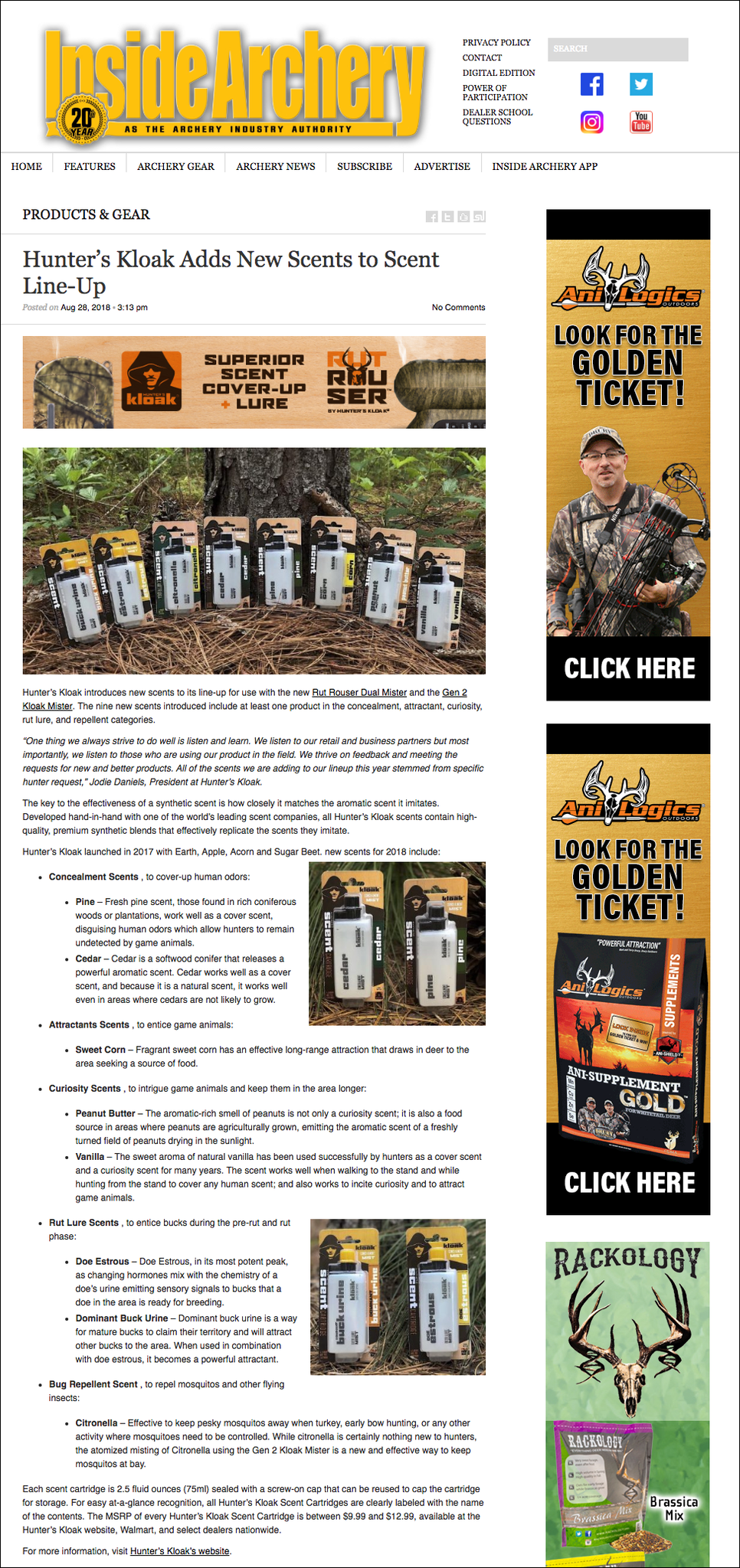 Hunter's Kloak Introduces the NEW Scents on insidearchery.com