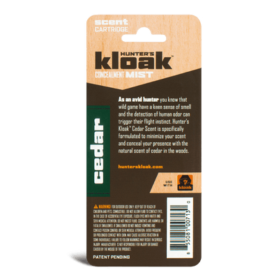 Hunter's Kloak® Cedar Concealment Scent - Hunter's Kloak