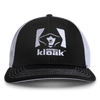 White & Black Flex Fit Fitted Cap - Hunter's Kloak