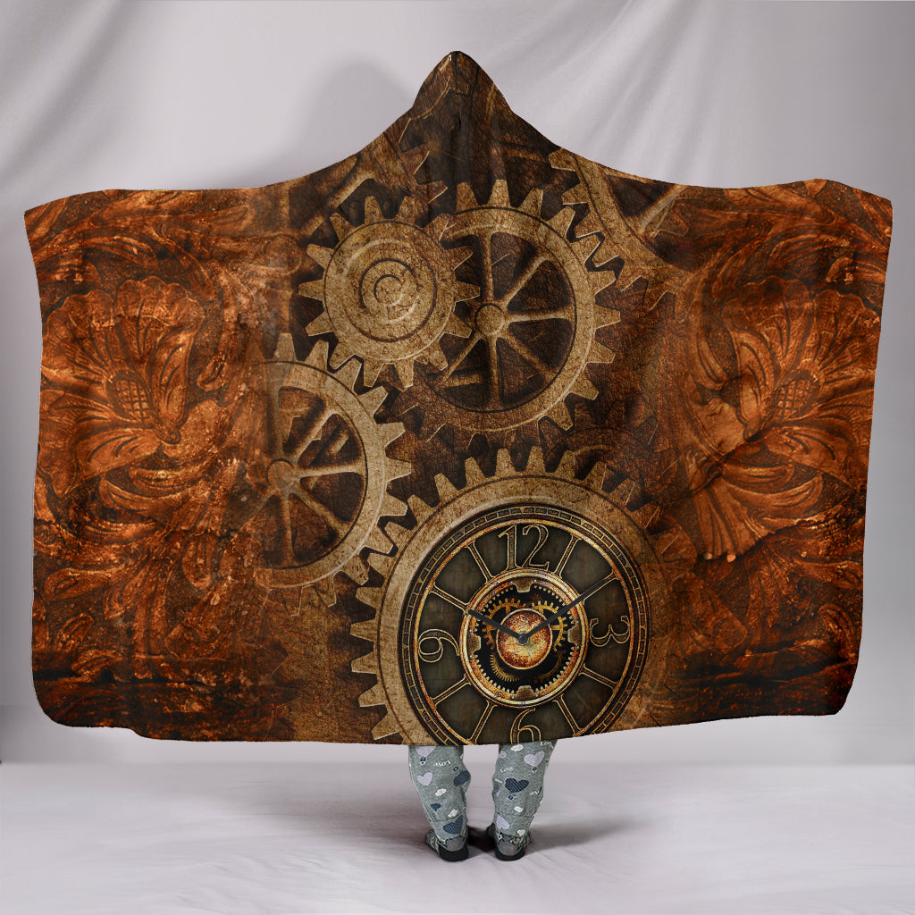 Steampunk Hooded Blanket
