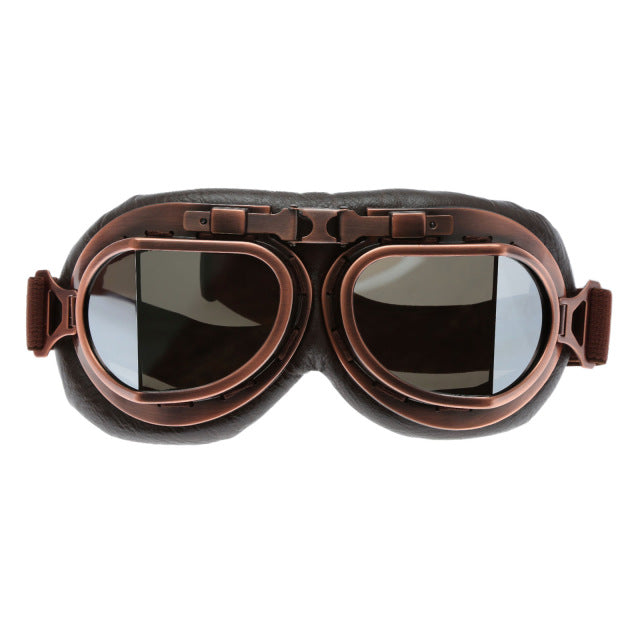 Vintage Steampunk Leather Motorcycle Goggles