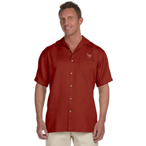 Harriton Men's Bahama Cord Camp Shirt