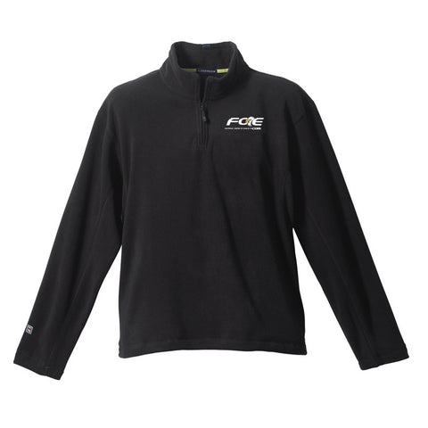 Black Lugano Micro Fleece Quarter Zip
