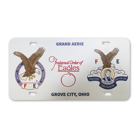 Grand Aerie License Plate Cover