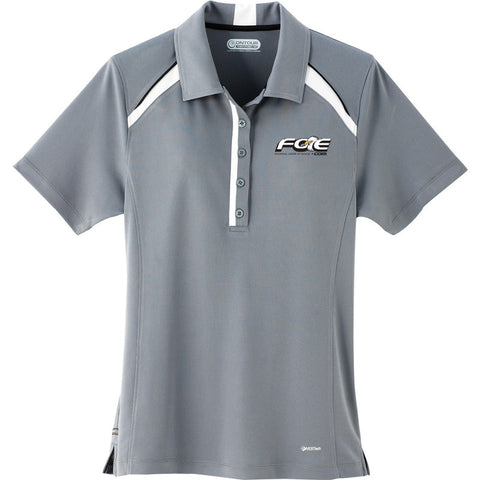 Gray Ladies' Quinn Short Sleeve Polo