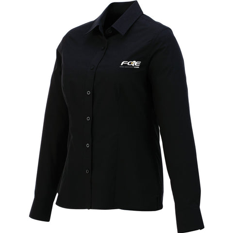 Black Ladies' Preston Long Sleeve Shirt