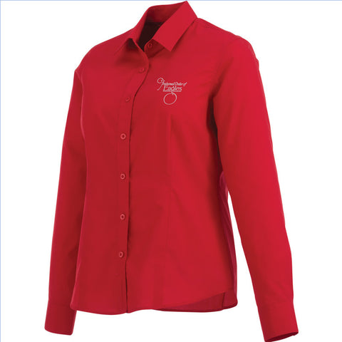 Red Ladies' Preston Long Sleeve Shirt