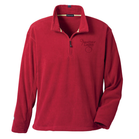 Red Lugano Micro Fleece Quarter Zip