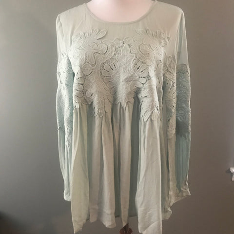 Light mint embellished top