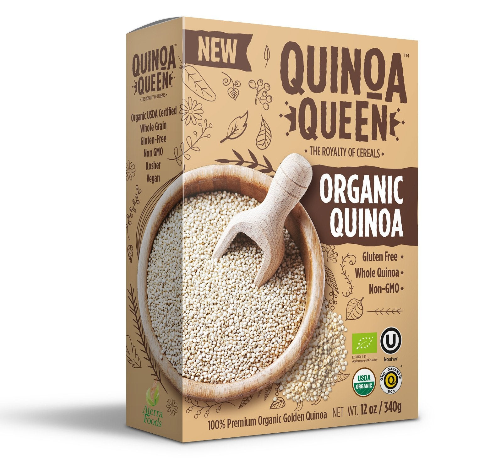 Pack of Twelve - Organic Raw Quinoa