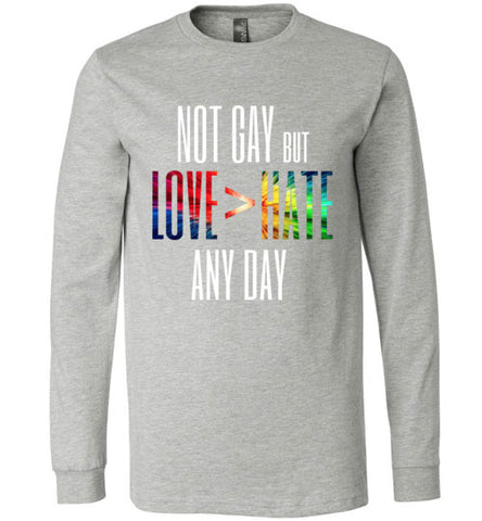 Not gay but love>hate