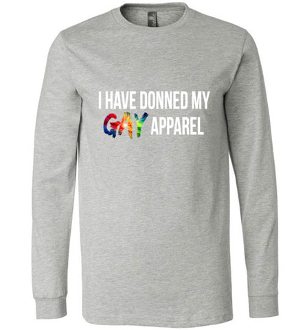 Gay apparel donned
