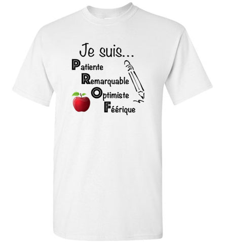 Je suis... PROF (I am a teacher - in French)