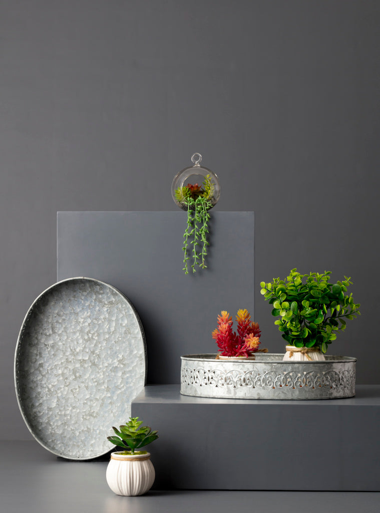 studio,kiklee,tray,metal,serveware,serving,silver,galvanized,oval,trays