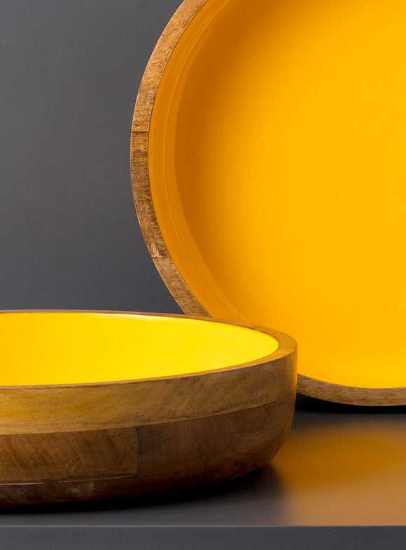 studio,kiklee,salad,bowl,serveware,serving,wooden,yellow,round