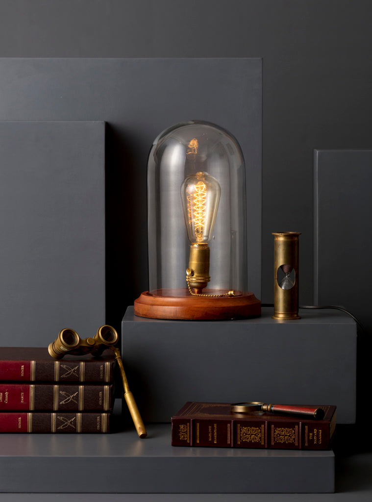 LAMP,TABLE,BELL,JAR,GLASS,ACCENT,LIGHTS,LIGHTING,STUDIO,KIKLEE,DECOR,BEDSIDE,DESK,STUDY