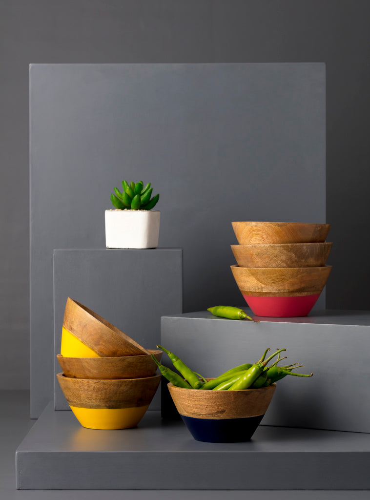 CLARA SNACK BOWL - YELLOW - Studio Kiklee By Simrat Kohli