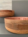 WOODEN BOWL, FRUIT BOWL, SALAD BOWL. COFFEE AND BROWN