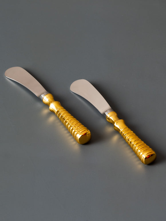 GILDED SPREADERS - SET OF 2 - Studio Kiklee By Simrat Kohli