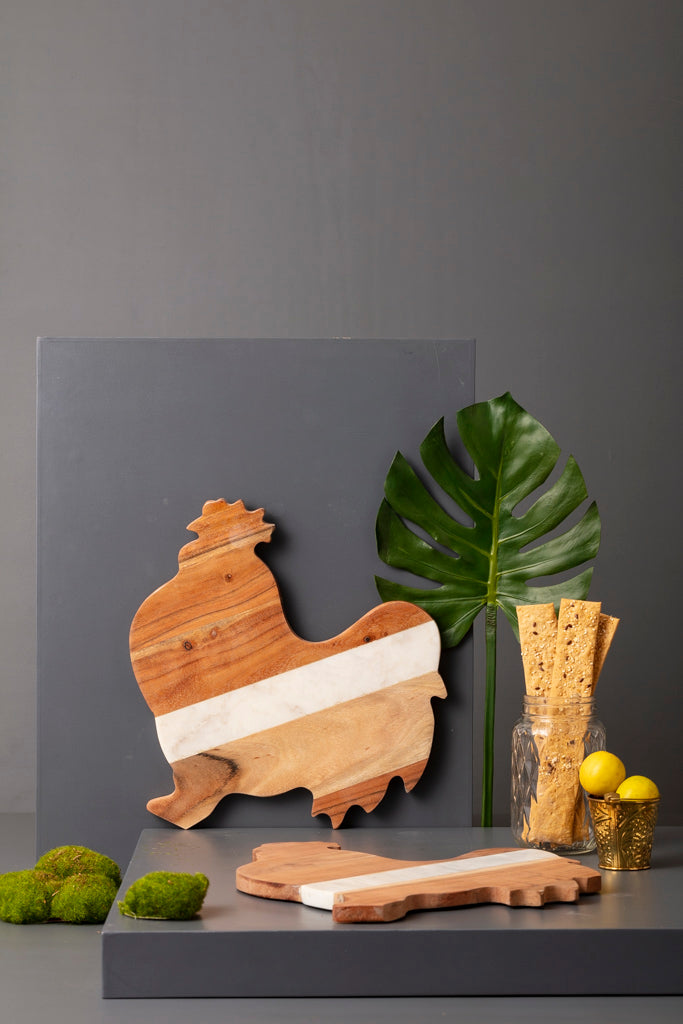 ROOSTER CHEESE BOARD - Studio Kiklee By Simrat Kohli