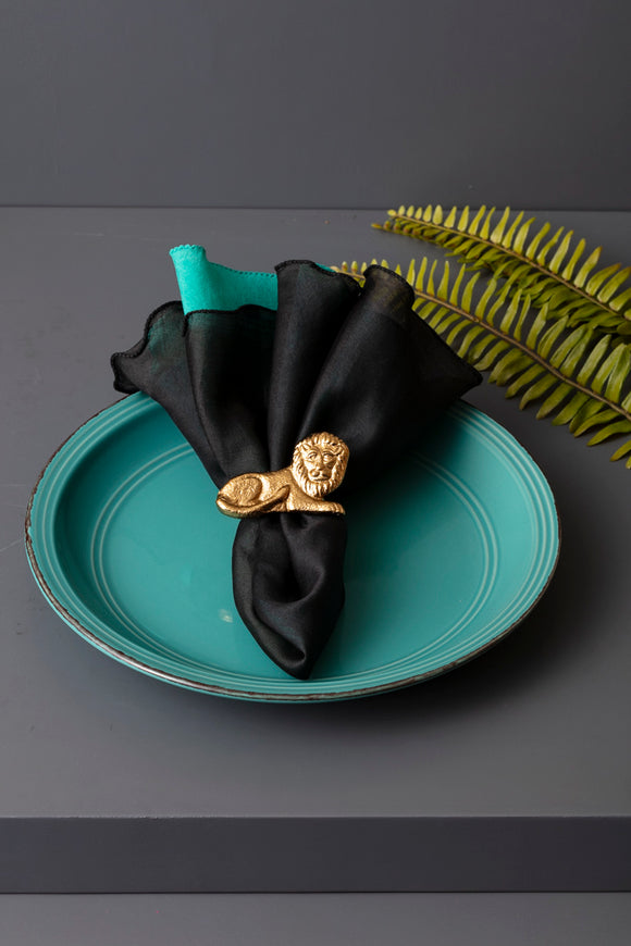 LION NAPKIN RINGS - SET OF 4 - Studio Kiklee By Simrat Kohli