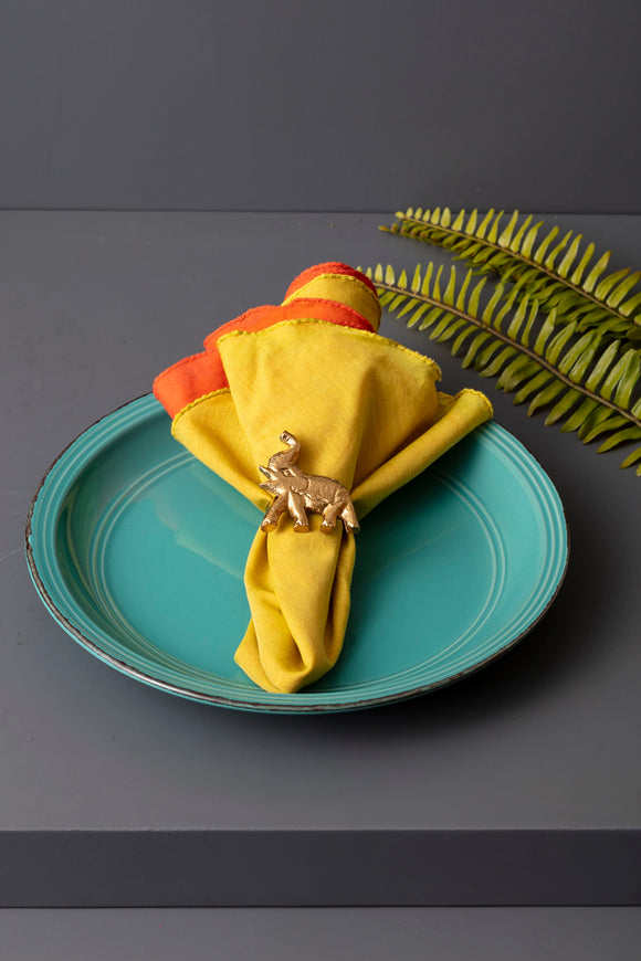 ELEPHANT NAPKIN RINGS - SET OF 4 - Studio Kiklee By Simrat Kohli
