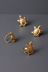 TORTOISE NAPKIN RINGS - SET OF 4 - Studio Kiklee By Simrat Kohli