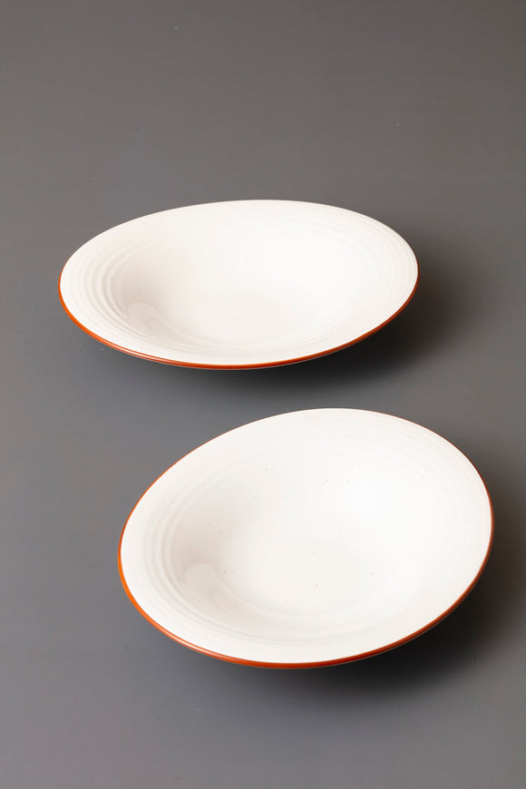 SIMON SHALLOW OVAL BOWL - SET OF 2 - Studio Kiklee By Simrat Kohli