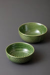 EDMUND BOWLS - GREEN - SET OF 2