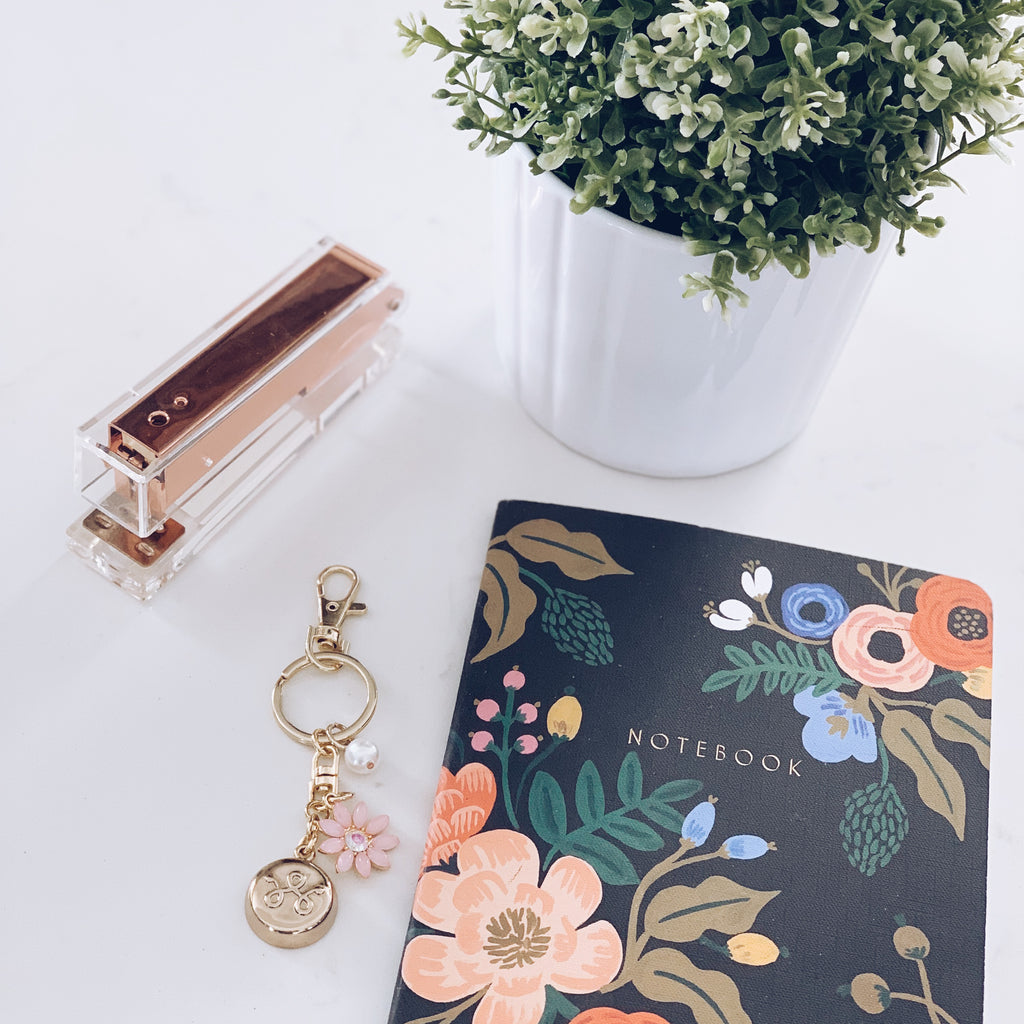 Gold Flower Keychain