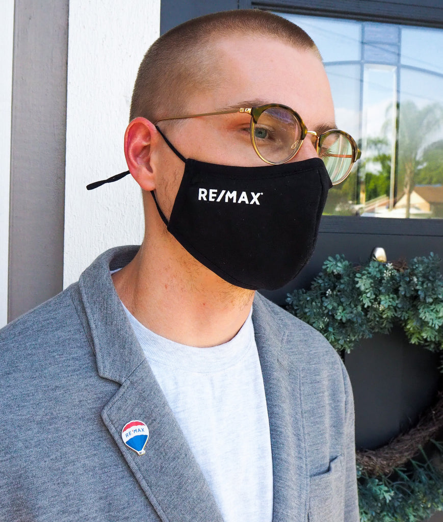 Black RE/MAX Branded Fabric Mask