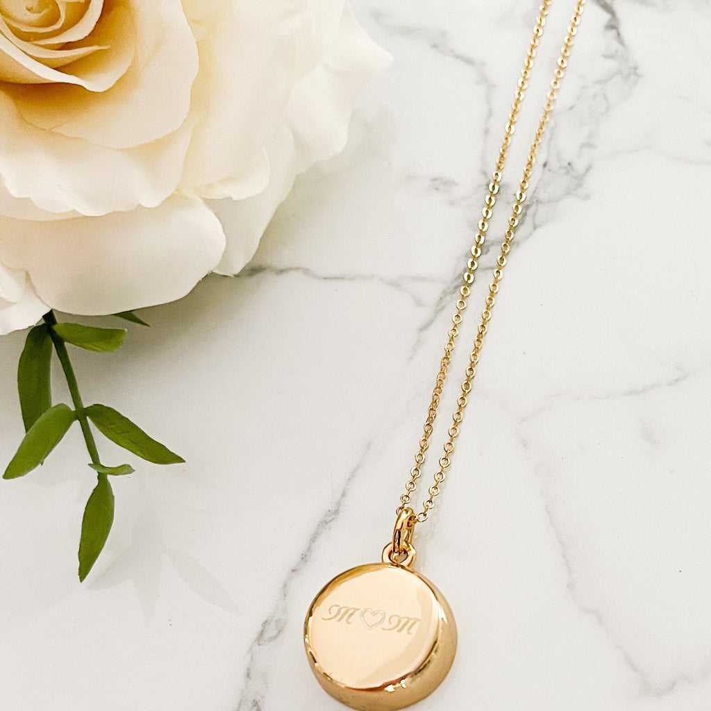 LIMITED EDITION - Gold Necklace with Mom Engraving