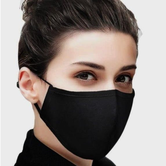 10 Black Fabric Masks