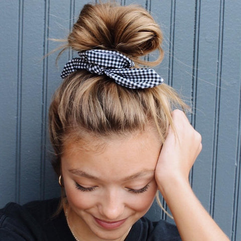 Checkered Scrunchie  - This Scrunchie Could Save Your Life™