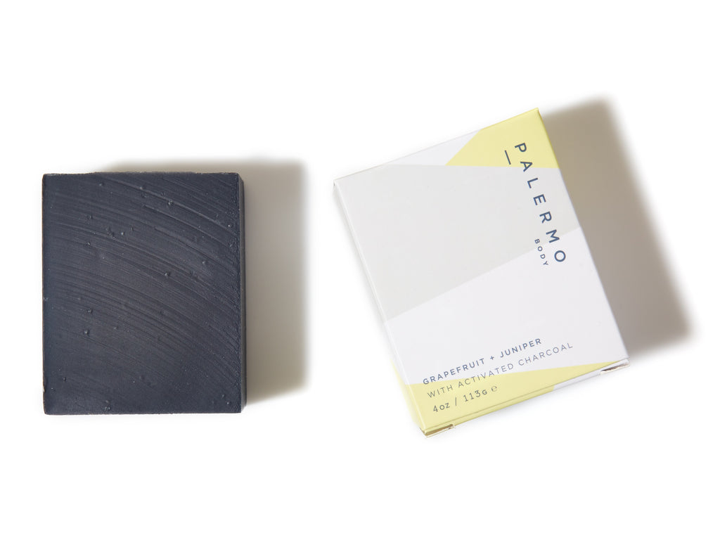 Grapefruit + Juniper with Activated Charcoal Bar